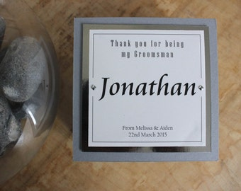 Personalised 'Thank you for being my Groomsman/Best Man' Gift Box by DPJ Designs