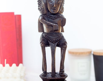 Indonesian Ebony Wood Figurine Carving