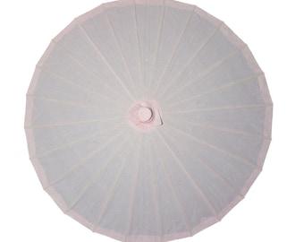 "28"" Rose Quartz Paper Parasol Umbrella for Weddings and Parties - 28PP-RQ"