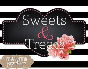 Sweets and Treats Chalkboard Heart Sign