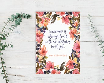 Anne of Green Gables Poster + Card | Tomorrow is Always Fresh