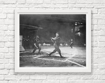 Baseball Art - Baseball Photograph - Vintage Baseball - Baseball Wall Art - Black And White Photograph - Photography - Photo - Old Baseball