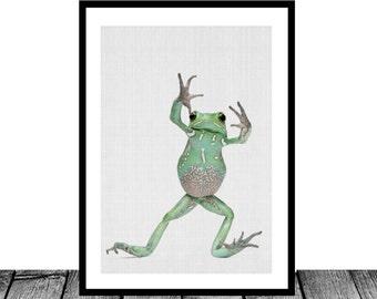 Tree Frog Print, Instant Download, Tree Frog Decor, Nursery Wall Art, Nursery Printable Art, Nursery Decor, Frog Decor