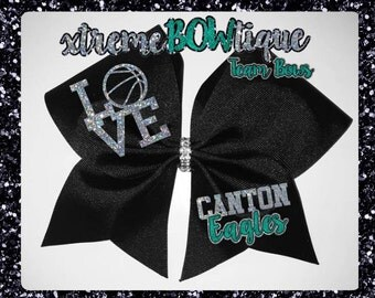 Basketball Hair Bow, Basketball Team Bows, Free Personalization, Free Number, Free Name