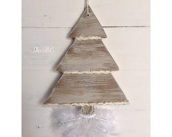 Boho Chic White Christmas Tree Ornaments ( Set of 3)