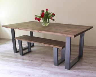 U Shaped Legs Modern Dining Table