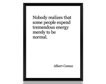 Albert Camus Poster, Black and White Poster, Literature Poster, Literary Gift