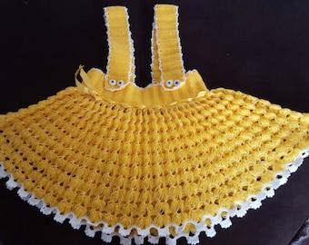 Yellow girls skirt 18-24 months
