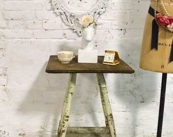 Painted Cottage Prairie Chic Chippy Vintage Table