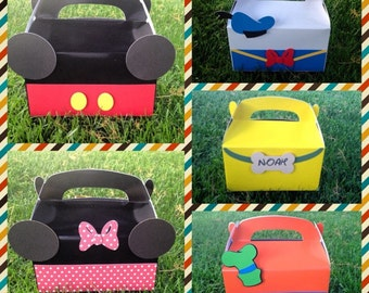 Mickey and Friends favor boxes