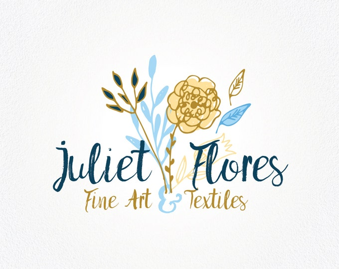 Popular items for floral logo designs  etsycom