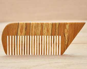 Wooden comb with thin tooth. Big comb. Handmade wooden accessories for hair. Handmade. Comb-Gifts. Organic comb. Natural Comb. Eco comb