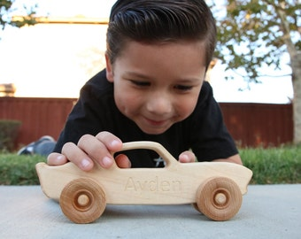 Wooden toy car | engraved wooden car| personalized toy car | toy muscle car | wooden toy racecar