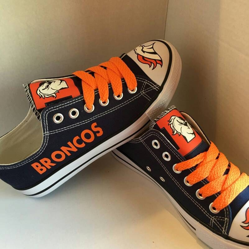 denver broncos tennis shoes by sportshoequeen on etsy