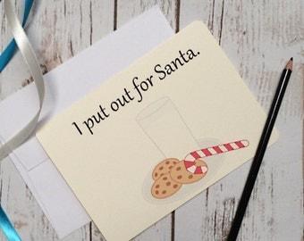 Adult Christmas card play on words