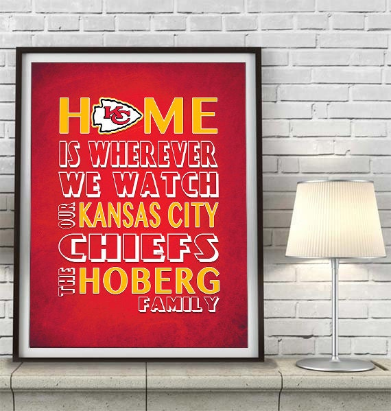 Kansas city chiefs football inspired home is by inkblotzart for Home decor kansas city