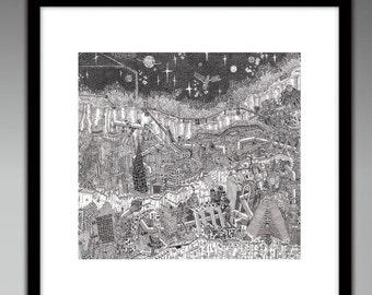 Cityscape - Illustration Print