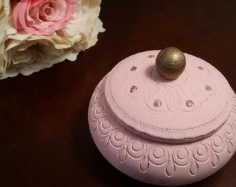 Pink Wooden Trinket Box