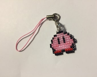 Shiny Kirby Charm, Kirby 3DS Charm, 3DS, Charm, 3DS Charm, Kirby, Super Smash Bros., Pink Kirby