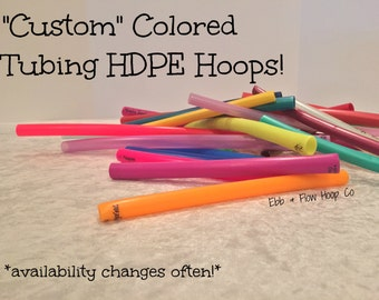 "Colored HDPE NAKED ""Custom"" Collapsible Hula Hoop - Keeps Color Options Wide Open! - 3/4"" OR 5/8"""