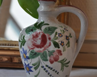 Antique French Vase, St Clement Porcelain, Ceramic Vase, Flower Vase, Flower Decor,French Home, Faience Jug, French Kitchen, Made in France