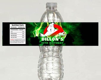 GHOSTBUSTERS Birthday Water Bottle Labels - Printable