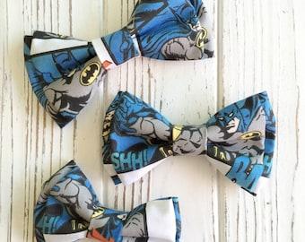 Batman bowtie - Character bowtie - superhero bowtie-Daddy and son bowties - batman bow ties - bowtie for pet