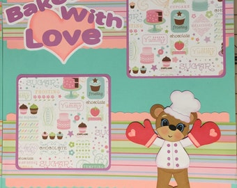 Babie First Baking Premade Scrapbook Pages