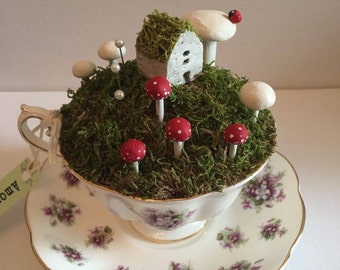 Pixie Wood Teacup Faery Garden