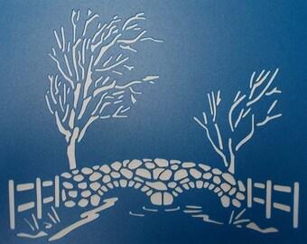 Stone Bridge Stencil