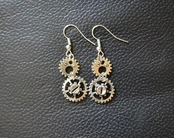 Earrings Steampunk