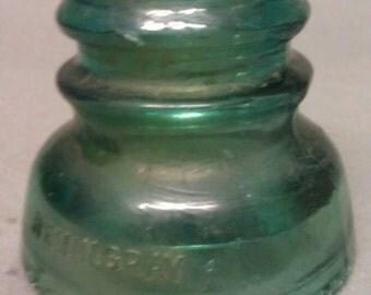 Hemingray No. 40 Green Glass Insulator