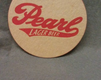 Pearl Lager Beer Coaster