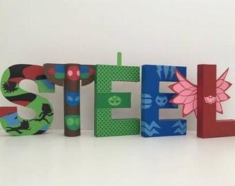 PJ Masks Paper Mache Letters - 5-LETTER NAME