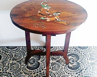 Antique folding table-mahogany Made in India 1940