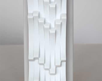 White bisque porcelain vase by Hutschenreuther, Germany, 60'ties