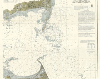 Monomoy Harbor and Nantucket Shoals Nautical Chart 1874