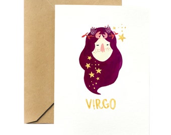 Birthday Greeting Card | Virgo Horoscope