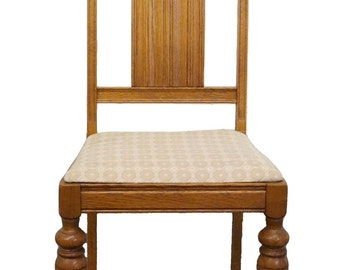 1920's Antique Gothic Revival Jacobean Dining Side Chair