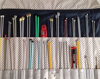 Knitting Needle Roll - Handmade