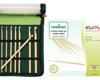 KnitPro Set Single Ended Crochet Bamboo