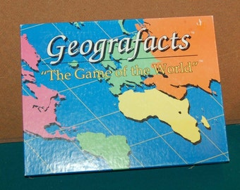Geografacts Board Game c. 1991.  100% Complete.  Excellent condition.