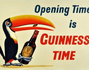Guinness, Vintage  Ad , Metal Sign,  No.606