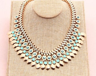 Eshe Statement Necklace in Gold