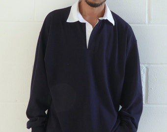 Ultra Baggy Rugby Shirt Navy