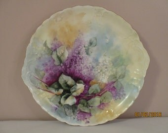 Purple Floral Platter Haviland France