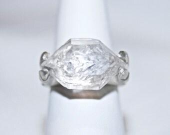 Herkimer Diamond Ring sz 9