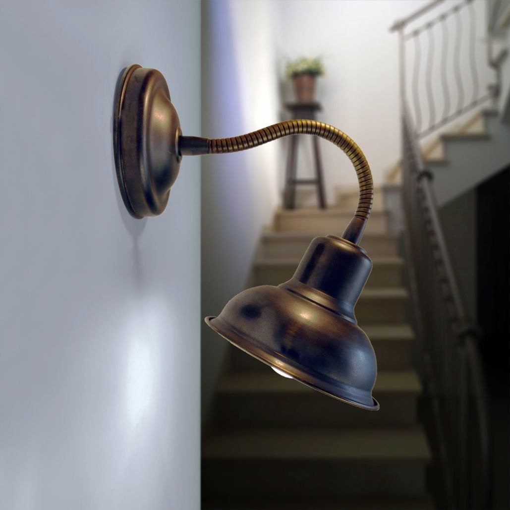 Wall Mounted Brass Reading Lamps : Price for 2 Wall sconces. Reading lamp with a flexible brass