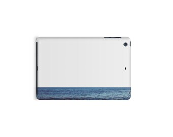 Ocean Horizon iPad case, Blue Stripe on White, Sea, Minimalist, Apple iPad hard shell case, ipad Mini, ipad Air, iPad 2,3,4