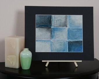 Tile Blue and black #3